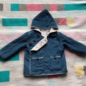 Hanna Andersson pixie corduroy & fleece jacket 2t